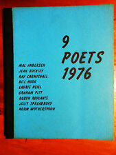ANDERSON, Mal & others. 9 Poets 1976. Kedron Park: North Brisbane College.