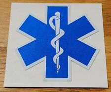 """Star of Life, Decal, EMS, Reflective 2.25"""" Wide X 2.25"""" High  #EM33"""