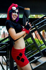 Harley Quinn Batman costume Cosplay Arkham Set hoodie shrug hot pants halloween