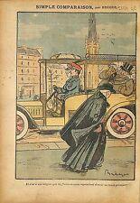 Caricature Antimaçonnique Franc-Maçons Prince de Paris Evêques 1911 ILLUSTRATION