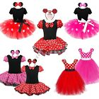 Kids Girls Baby Toddler Minnie Mouse Halloween Outfit Fancy Dress Up Costume+Ear