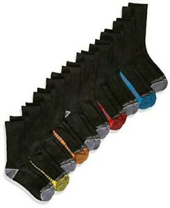 Fruit of the Loom Boys' Big 10 Pack Crew Socks, black, Black Assorted, Size 0.0