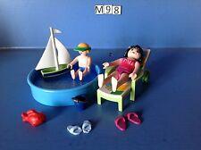 (M98) playmobil pataugeoire, enfant et maman ref 4864 4857 4859 4858