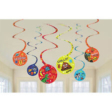 EPIC PARTY HANGING SWIRL DECORATIONS (8) ~ Birthday Supplies Foil Video Games