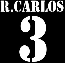 Real Madrid R Carlos Nameset Shirt Soccer Number Letter Heat Print Football A