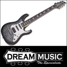 Schecter Banshee-7 Extreme Charcoal Black Quilt Top Electric Guitar RRP$1199
