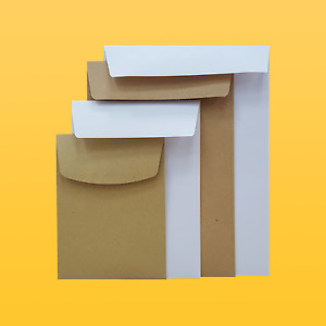 Small Brown or White Pocket Envelopes | Gummed | Quantities from 50-5000 80/90g