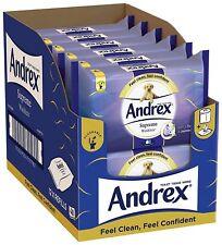 Andrex Washlets Supreme Moist Flushable Toilet Tissue Wipes Pack of 12 Free P&P