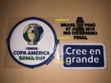 FINAL  COPA AMERICA 2019 Authentic Patches Players + MATCH DATE    BRASIL-PERU