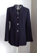 NWT LIZ CLAIBORNE Collection Navy Pinstripe Single Breasted Jacket UK Size 6/8