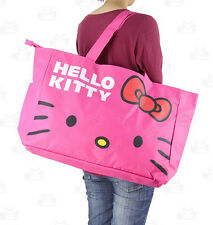 HelloKitty Travel Luggage Big Bag Totes Shoulder Shopping Handbag Red