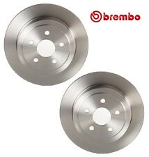 Pair Set of 2 Rear Solid Disc Brake Rotors Brembo For Dodge Chrysler Plymouth