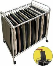ROLLING PANTS TROLLEY HOLDS UP TO 20 PAIRS OF PANTS
