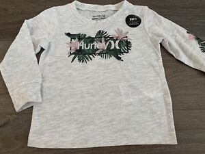 Girls Size 18 Months Grey HURLEY Long Sleeved Cotton Top *NEW* BNWT