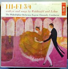 EUGENE ORMANDY hi-fi 3/4 waltzes & songs LP Mint- CL 849 CBS Mono 6 Eye 50's