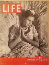 Life Magazine September  5, 1938