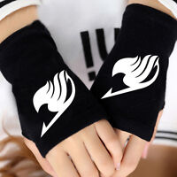 Anime Fairy Tail Guild Cosplay Cotton Knitted Gloves Fingerless Mitten Warm Gift