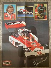 JAMES HUNT MCLAREN M23 1976 POSTER AFFICHE F1 MOTORING-MAN