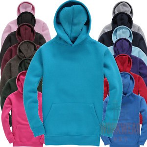 Premium Kids Hoodie, Plain Hoodies for Children Boys Girls Unisex Hooded Sweater