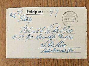 SS Feldpost Brief mit Inhalt von Bewacher KZ Außenstelle Falkensee Siemenslager