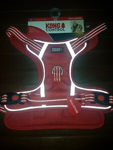 KONG CONTROL Dog Harness  RED With Reflective Stitching SIZE Medium M Up To 23kg