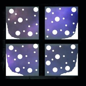 Christmas Snow Corners & Snow Drops Window Sticker Xmas Decoration Decal x128