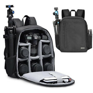 Large Camera Backpack Rucksack Photo Bag Lens Tripod Holder SLR DSLR Case Canon