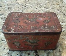 OLD ANTIQUE UNION LEADER 1911-1919 NJ CUT PLUG ADVERTISING TOBACCO TIN