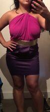 BNWT Lipsy At Asos Backless Purple Pink Pencil Dress Uk 14