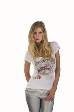 T-SHIRT SPYKE WOMAN A2 ORIGINAL BIKERS JEANS 100% MADE IN ITALY MAGLIA MC DONNA