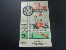 FULHAM  v  LIVERPOOL     League   1951/2
