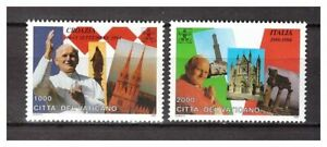 S10022) Vatikan MNH 1995 Pope World Travels 2v