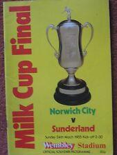 1985 FOOTBALL LEAGUE CUP FINAL  NORWICH v SUNDERLAND