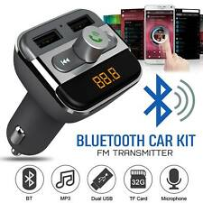 Bluetooth Car FM Transmitter Radio MP3 Player USB Charger Wireless Handsfree Kit