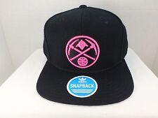 Denver Nuggets NBA Retro Vintage Snapback Black Neon Pink Cap Hat New By Adidas