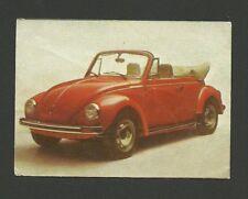 Volkswagen Beetle Convertible 1976 Car Card from Spain