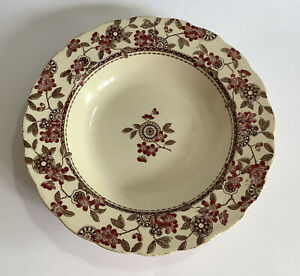 """Rare Antique William Brownfield & Sons 10 1/4"""" Rimmed Bowl 'Berne' Dated 1888"""