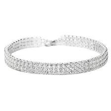 Platinum Plated Elegant Brilliant Bangle Bracelet with Swarovski Cystals