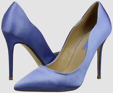 Dorothy Perkins Size 3 5 8 Mid Blue Satin Curved High Heel Court Shoes BNWB UK 5