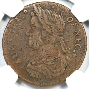 1787 32.4-Z.3 R-5 NGC VF 25 Connecticut Colonial Copper Coin