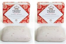 Twin Pack- Nubian Heritage  Coconut & Papaya Soap /  Shea Butter - 5oz Bars