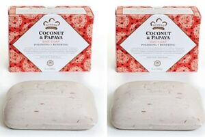 Twin Pack- Nubian Heritage  Coconut & Papaya Soap /  Shea Butter - 5oz Bars