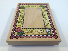 Rubber Stampede Rubber Stamp Large Cozy Christmas Frame Holiday Theme