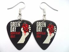 Inusual Green Day pendientes de guitarra pick // Plectro