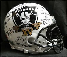 Team Signed Auto Authentic Full Size Helmet Oakland Raiders Super Bowl XV JSA WH