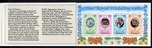 Jamaica Scott #503b MNH BOOKLET Prince Charles Lady Diana Wedding $$