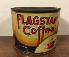 Vintage Flagstaff Coffee Tin Can Perth Amboy Nj Greenspan Bros Co