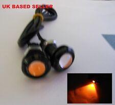 2 un. ámbar Color Eagle Eye COB LED Ideal Coche o Moto Camión Embarcación SUV DC 12 V ee5