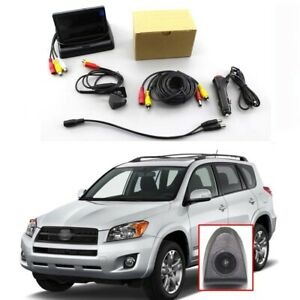 CCD Front Grille View Dead Zone Blind Spot Camera W/ LCD Moniter For Toyota RAV4