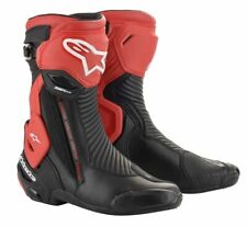 ALPINESTARS SMX PLUS V2 BOOTS RED BLACK EURO SIZE 43 P/N 2221019-13